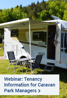 Webinar - RTA and Caravanning Qld – Tenancy Information for Caravan Park Managers