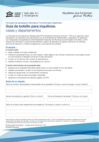 Pocket guide for tenants - houses and units (Form 17a) | Spanish translation